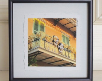 New Orleans French Quarter Mardi Gras Balcony Framed Photograph