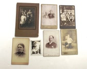 Antique Photos Lot, 7 19th Century and Early 20th Century Photographs (A2)