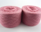 Light dull pink color lace weight merino yarn for lace knitting or Haapsalu shawl knitting, measure 2/28, 100 grams (1526yard)