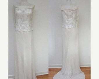 BRIDAL SALE Vintage high-fashion John Russell Wedding Gown