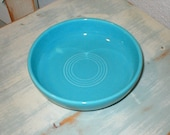"Vintage Homer Laughlin Fiesta Ware 6"" Turquoise Dessert Bowl Beautiful Excellent/Pristine No. 2"