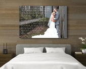 Wedding Vow Art, Wedding Song Canvas, Wedding Vows Framed, Custom Wedding Vows, Personalized Vows
