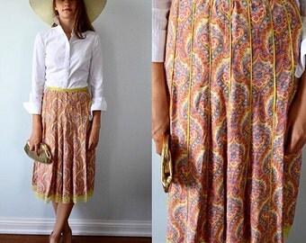 Vintage Skirt, April Cornell, 1980s Skirt, Casual Skirt, Skirt, Panel Skirt