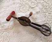 Vintage Wooden Handle Hand Mixer