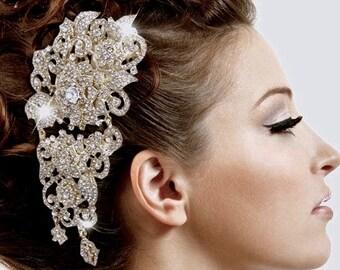 Rhinestone Hair Comb, Bridal  Crystal  Headpiece, Bridal Rhinestone Comb