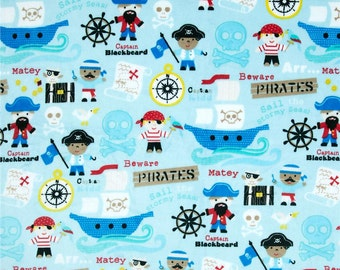 Personalized Baby Blanket - Baby Girl or Boy Lovey or Stroller blanket - You Choose Minky Color- Pirates Boates