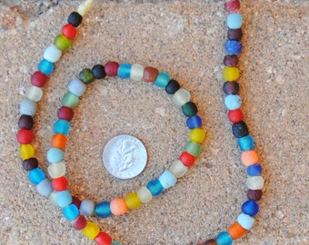Ghana Glass Beads: Mixed Colors 8mm