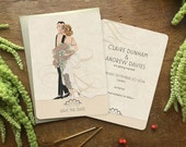 """Vintage Style Save the Date, Save the Date Postcard, Save the Dates, Vintage Glam, Art Deco Wedding, 1920's Wedding, """"Beautiful Aisle"""" theme"""