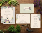 Spring Wedding Invitations, Wedding Invitations, Art Deco Wedding, Gatsby Wedding, Deco Glam, Pink Wedding Invitation, Floral, Flowers