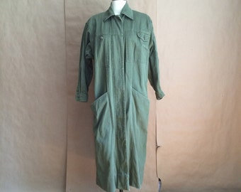 vintage 90's baggy fit oversized fit trench / overcoat / jacket / outerwear / cotton / womens  / size 4-6