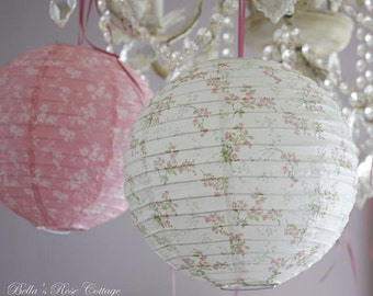Paper Lanterns - Blue and Blue - Treasures by Shabby Chic retired