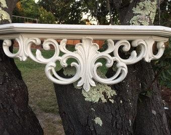 Larger Shabby Ornate Shelf Bed Crown
