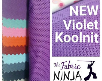 Violet Purple Amethyst  Koolnit mesh fabric 100% polyester- custom dyed Tula Kinderpack DIY Babywearing Fabric fir Summer Carriers