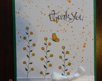 "5 Handmade ""Thank You"" Cards"