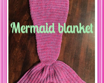Mermaid tail blanket (your choice of colors)