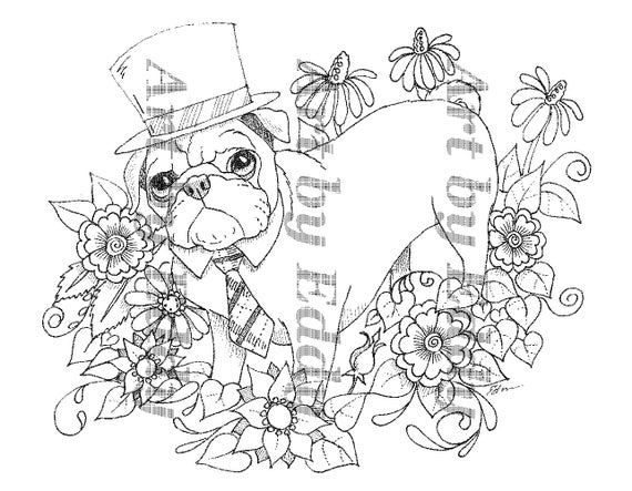 Art of Pug Coloring Book Volume No 1 Physical Book
