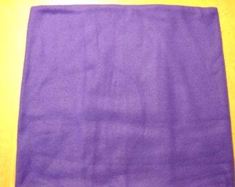 "Purple Fleece Pillow Cover-16""x 16"""