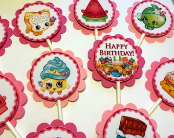 30 Shopkins Ready Made Dimensional Cupcake Toppers *Ready to Ship*