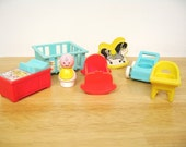 Vintage Fisher Price Nursery with Baby