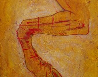 Da Vinci's Leg
