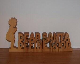 Christmas Holiday Home Decor - Dear Santa Sign - Office Decor