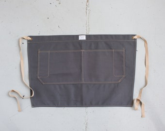 Waist Apron in Slate Duck Canvas