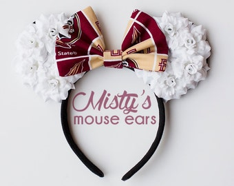 FSU Florida State University Rose Mouse Ears