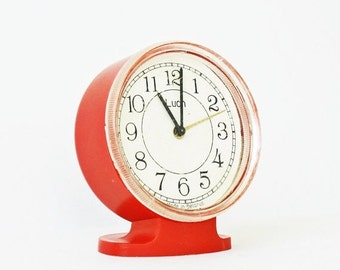 25% OFF ON SALE Vintage Belarus mechanical alarm clock Luch