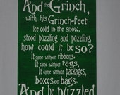 SALE Grinch Sign, The Grinch, Christmas decor, Christmas Gift, Grinch Saying, Grinch Quote, How The Grinch Stole Christmas, Grinch decor