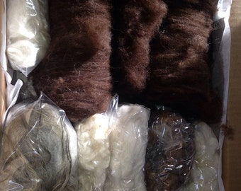 Build a Batt Felting spinning fiber sample kit
