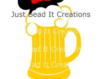 Minnie Mouse Inspired Beer Die Cut File