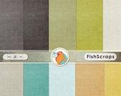 SALE - Modern Boy Solid Digital Background Papers, Digital Cardstock, Solid linen Texture, Teal, Orange, Lime Green, Masculine