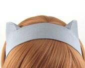 Cat Ears Headband Grey Cat Fabric Headband Halloween