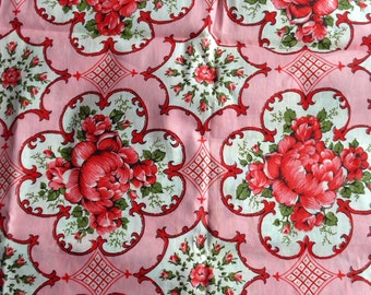 Pink Peony Fabric Remnant 3 Yards