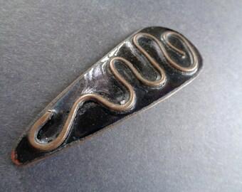 Vintage copper enamal art pin