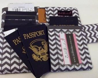 Dollbirdies Family Size Passport Wallet for Ten