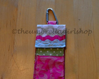 READY TO SHIP - Thieves Pouch for Hand Gel or Spray - Patchwork