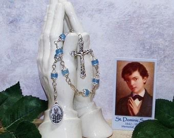 Unbreakable Catholic Chaplet of St. Dominic Savio - Patron Saint of Boys, Choirs and Juvenile Delinquents