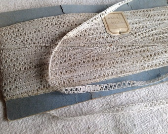 Antique Lace Vintage Lace Trim, French Lace Insert Ballet & Dolls. 5 ys Vintage Wedding, Furnishings