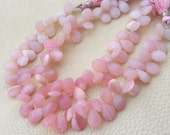 Brand New,1/2 Strand, Amazing Quality PERUVIAN Pink OPAL Faceted Pear Briolettes, 9-10 Long,Great Quality at Low Price