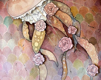 Original Watercolour Painting - Rose Jelly