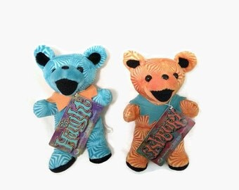 Grateful Dead Bears, Height Ashbury, The Grateful Dead, Liquid Blue, Dead Heads, Collectible Bears