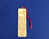 Wood Scripture Bookmark - Isaiah 40:31