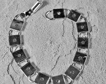 """Silver plated braclets, 7.5"""" long, #370/371"""