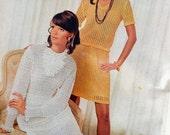 Retro Crochet Clothing Dress Patterns Needlework Magazine Vintage at Quilted Nest