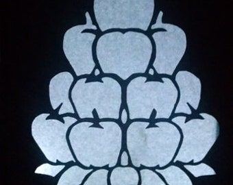 DIY Apple stack luminary centerpiece