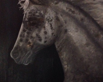 Horse Painting, Horse Oil Painting, Horse Art, Appaloosa, Fine Art Giclee or Canvas Print