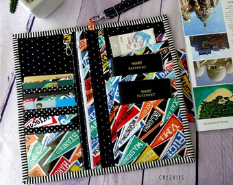 US Flag Family Passport Holder, Passport Wallet Credit Card holder, Passport Case,Travel Wallet, Travel Gift, passport cover, personalized
