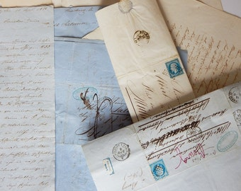 antique letters 1860s handwritten letters lot from about 1860 letter lot paper ephemera