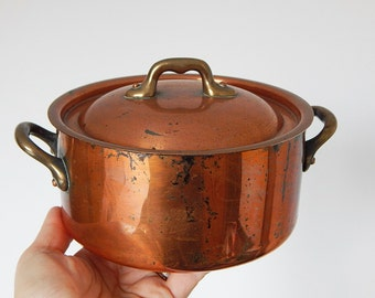 french copper pot cooking pot